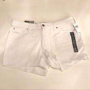 NWT - Size 8 GAP White Jean Shorts